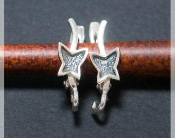 Sterling Silver Leverback, Ear hooks, Ear wire,  earrings components B38