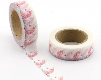 Unicorns Washi Tape - Pretty Unicorns Themed Masking Tape