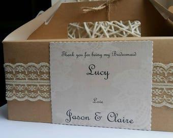 Personalised wedding gift box kraft