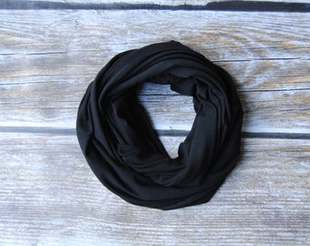 TODDLER Infinity Scarf, Black baby infinity scarf, 1-6 years old kids scarf, toddler scarf