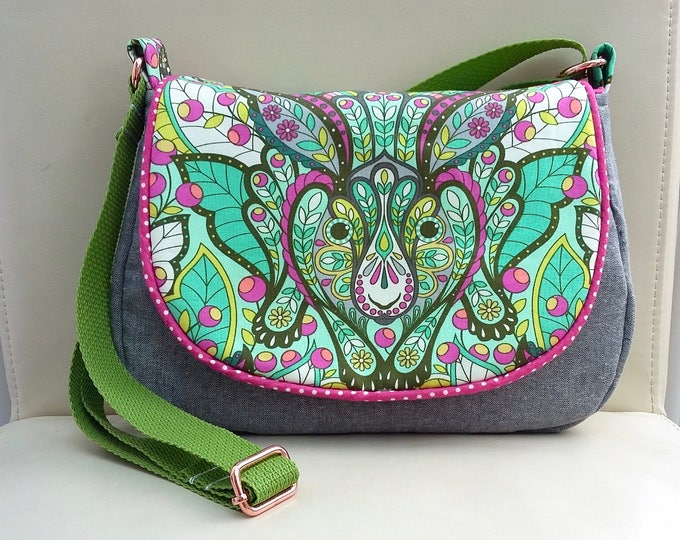 Down the Rabbit Hole Small Messenger Bag