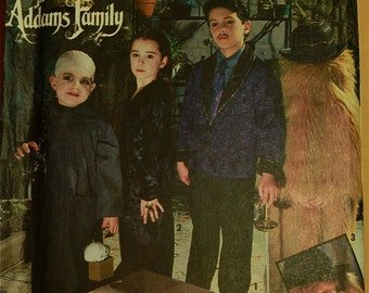 Addams Family Costumes, Gomez, Morticia, Fester,& Cousin It - Simplicity Pattern 7991  Uncut Sizes 3-4-5-6  Chest 22-23-24-25""