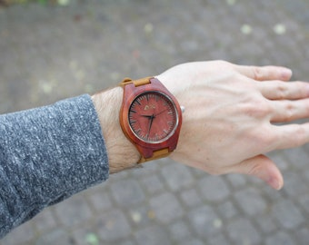 FREE ENGRAVING, Wood Watch, Engraved Wooden Watch, Gift for Him, Anniversary Gift, Wedding Gift, Mens Wooden Watch, Wrist Watch, Wood Gift