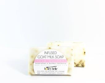 Fresh Roses Goat Milk Soap, Handmade Soap, Handmade Goats Milk Soap, Rose Soap, Handmade Soap, Artisan Rose Scented Soap