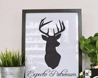 Expecto Patronus Wall Art - Digital Download - High Resolutions - Printable Wall Art
