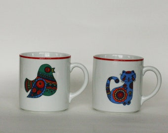 vintage bareuther waldsasson coffee mugs set of two