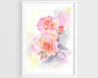 "Original watercolor,sweet flowers,flower garden,original painting,8""1x11"",home decor"
