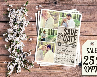 Personalized Save The Date Magnet • Save The Date Card • Save The Date Postcard • Rustic Wedding • Printed