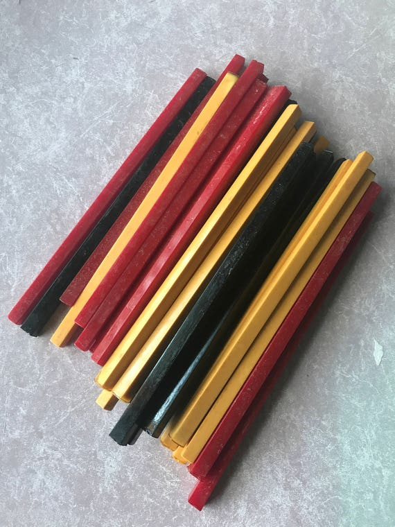 Vintage Bakelite Square Rods for Making Jewelry