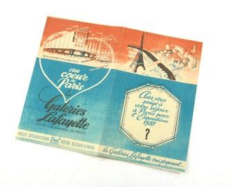 Paris 1937 international exhibition brochure, 1937 - Galeries Lafayette department store touristic ad