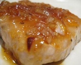 Low Carb, Sugar Free Apricot Dijon Pork Chop Recipe