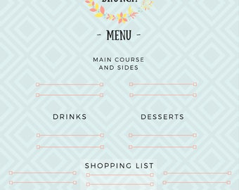 Easter Menu Prep set | Brunch | Lunch | Dinner