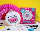Cross stitch kit, modern cross stitch, watermelon stitch pattern, gift for her, DIY kit, craft kit, easy cross stitch, craft project, kits