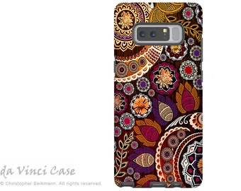 Fall Paisley Galaxy Note 8 Case - Floral Case for Samsung Galaxy Note 8 with Indian Paisley Art - Autumn Mehndi - Premium Dual Layer Case