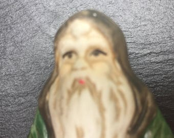ON SALE Santa Figurine Old World Yugoslavia 1910 Hand Painted Collectible Vintage