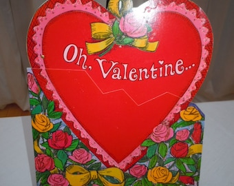 "Vintage 60's  Large - VALENTINE Card "" Don't Break My Heart "" - New Old Stock- Norcross Card's-  9"""