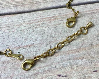 Chain Extender Raw Brass, Gold Tone Extender for Necklace, Add Length to Necklace, CHOOSE Length, Make a Necklace Bracelet Adjustable Chain