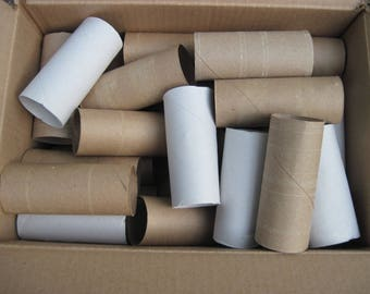 30 clean toilet paper rolls for crafts