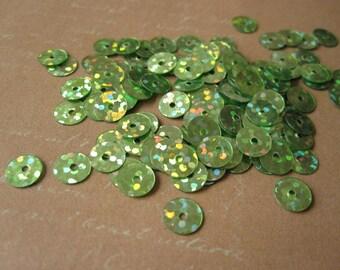 Green sequins 125 beads
