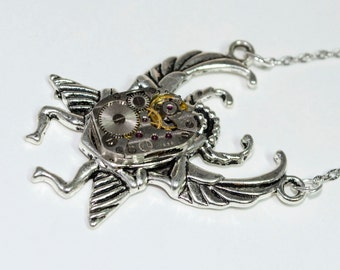 Scarab necklace steampunk jewelry egyptian necklace egyptian jewelry scarab beetle Steampunk Scarab statement necklace Womens Jewelry Gift