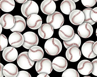 Go Team Go, Baseball, softball cotton fabric from David Textiles , yard