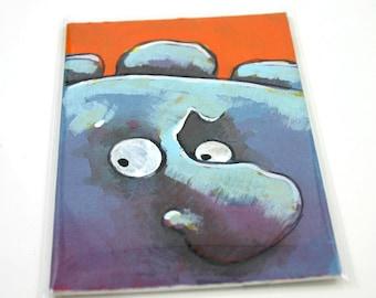 Blue Monster Original Art Card