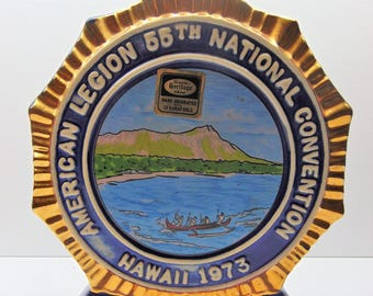 Vintage Jim Beam Decanter, American Legion 55th National Convention, Hawaii 1973