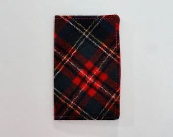 Red Vintage Pendleton Wool Plaid Mini Wallet