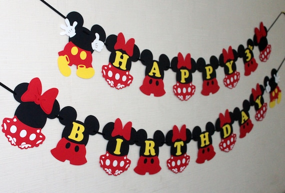 Mickey and Minnie Mouse birthday decorations inspired Disney