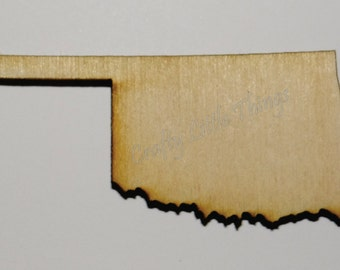 Wooden state shape - unpainted pick your state