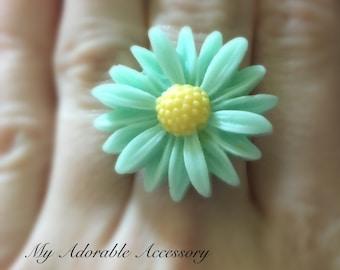 Daisy Flower Adjustable Ring