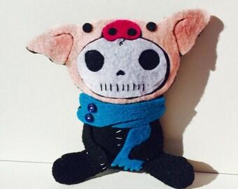 Felt Creature - Skeleton / Pig