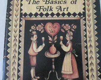 "Folk Art Decorative book "" The Basics Of Folk Art"" by Jo Sonja Jansen 98 pages 1981 used book"