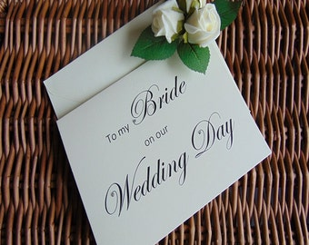 To my bride on our wedding day, To my bride Card, wedding card, wedding cards, wedding card, groom to bride card, card for bride, my bride