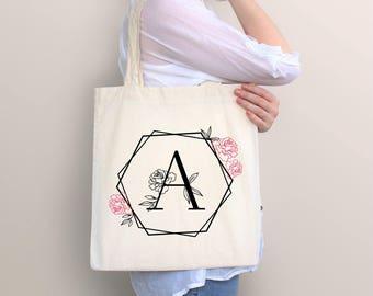 Monogram Tote Bag, Tote Bag, Personalized bag,Wedding Bag, Monogram Bag, Personalized Gift, For Her, Bridal Party, Bridesmaid Tote Bags