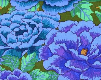 Kaffe Fassett Fabric, Kimono, GP33 Cobalt Turquoise, Free Spirit, 100% Cotton, #KC82