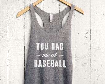 Cute Baseball Tank Top - funny baseball tanktop, baseball mom shirt, funny baseball shirt, baseball fan top, funny baseball gifts