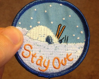 Stay Out Patch