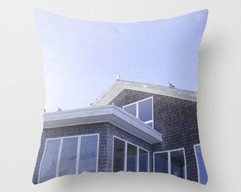 Photo Pillow Cover Decorative Lilac Pillow Summer Pillow Cottage Pillow Ocean Decor Beachy Pillow
