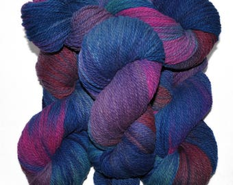 Hand dyed yarn - Columbia Wool yarn, Worsted weight, 170 yards - Hermod