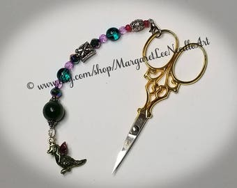 Mystical Dragon Scissor Fob / Cross Stitch Accessory / ONLY 1 Available!