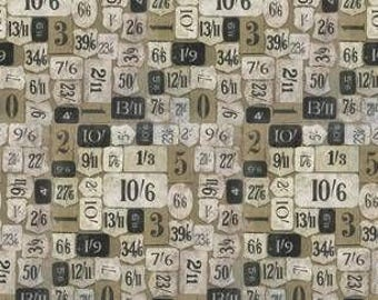 Half Yard Tim Holtz Eclectic Elements Mercantile in Neutral Shades made for Free Spirit Fabrics