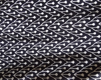 Ikat print Black and white Cotton fabric by yard kids clothing womens clothing cotton sale fabric cotton robe cotton dress sewing fabric