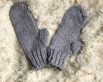 Mittens / Knit Mittens / Knitted Mittens / Cozy Mittens / Winter Mittens / Handmade Mittens / Chunky Mittens / Handmade Knit Mittens