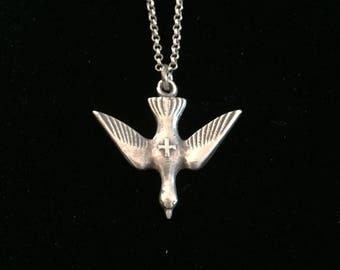 french saint esprit dove of peace necklace Holy Spirit