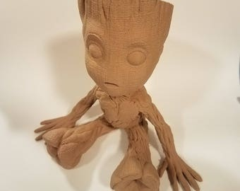 Baby Groot Wood Planter - Unpainted for Arts, Crafts, and Painting