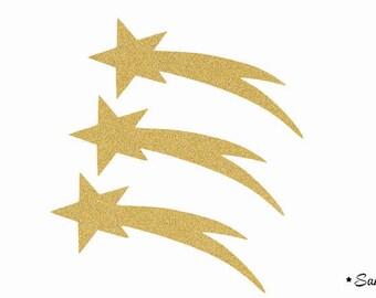 Christmas stars fusible applique Golden paillete