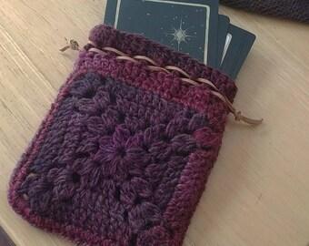 Large Crocheted Tarot Bag