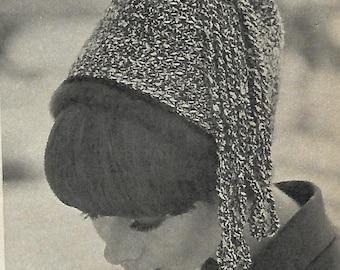 ladies crochet tassel top hat, crochet pattern, pdf, digital download