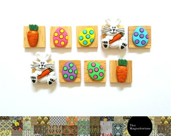 Easter Bunny Magnets [Fridge Magnets, Fridge Magnet Sets, Refrigerator Magnets, Magnet Sets, Office Decor, Kitchen Decor, Magnetic Board]